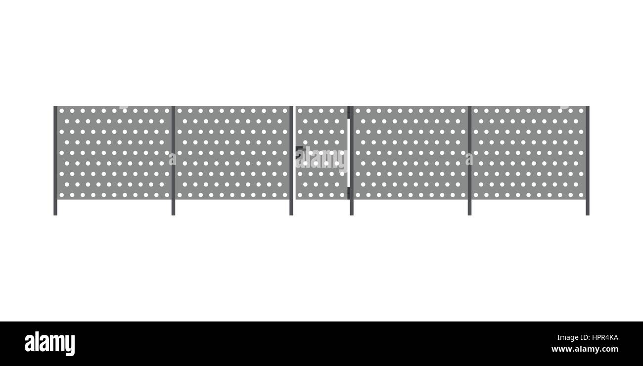Metal fence Stock Vector