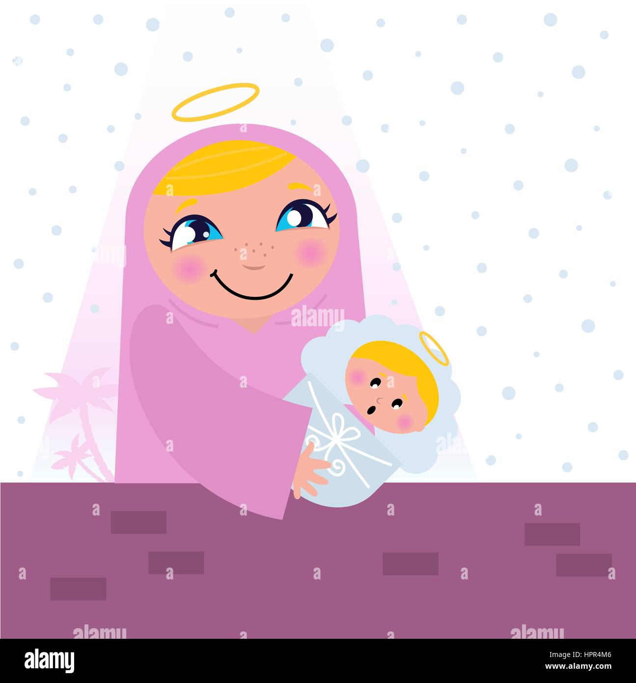 Virgin Mary Carrying Baby Jesus Stock Photos & Virgin Mary Carrying ...