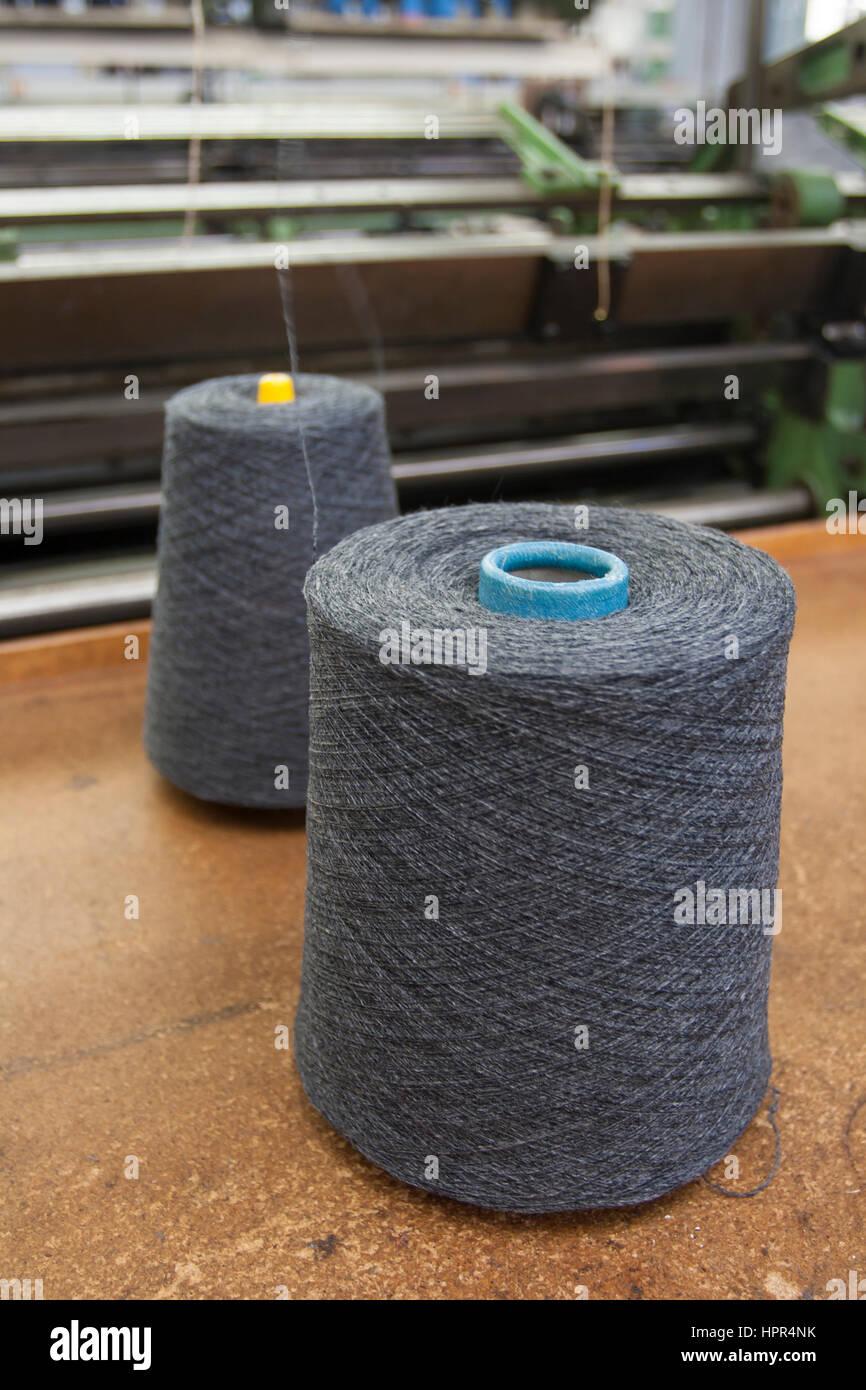 Textile Production - Weaving - Stock Image