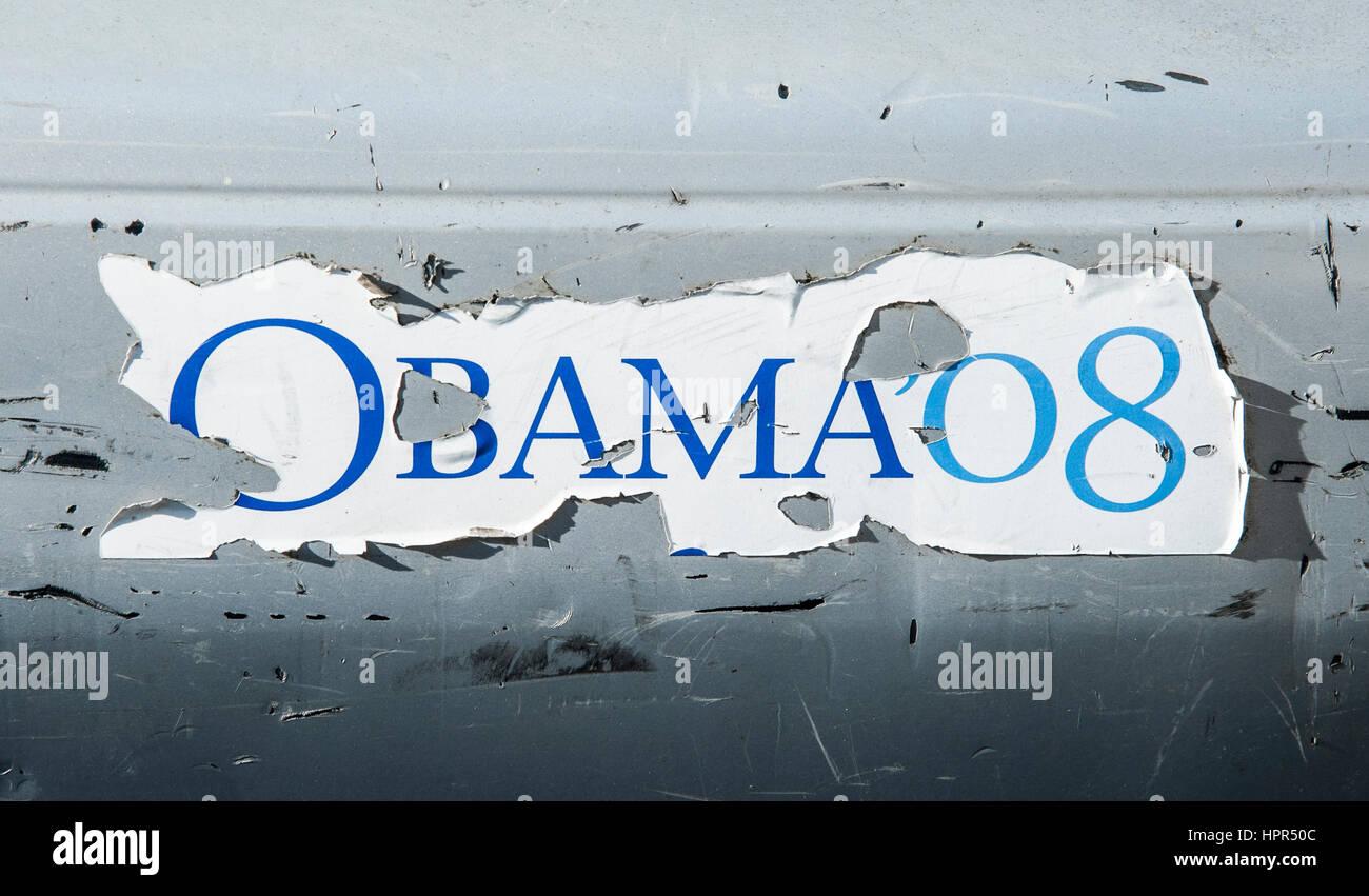Obama 08 bumper sticker - Stock Image