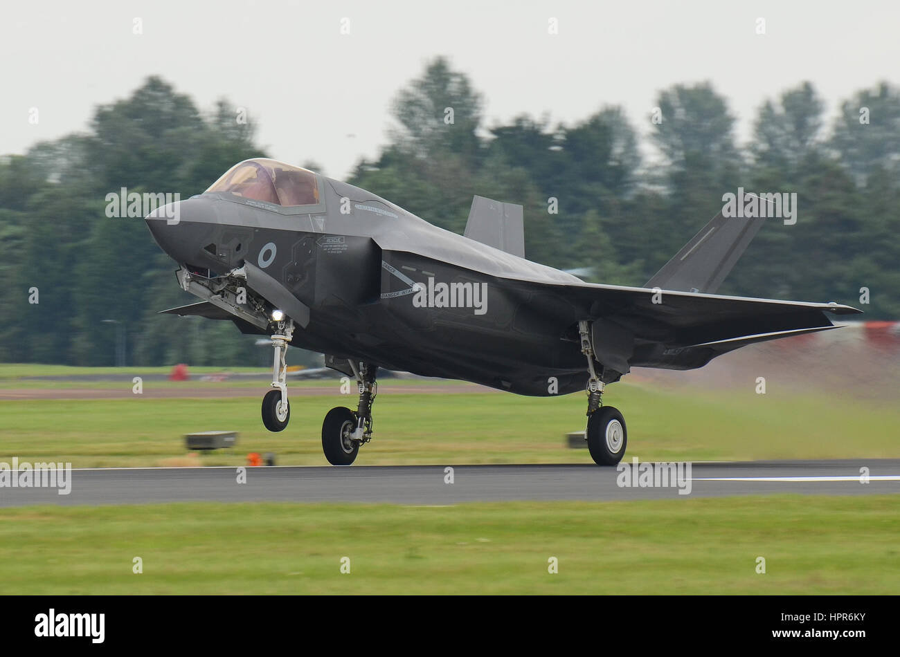 RAF's first Lockheed Martin F-35B Lightning II JSF Joint Strike Fighter. Seen at the Royal International Air - Stock Image