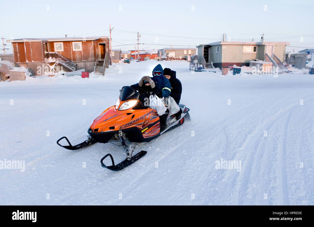 Gjohaven is an inuit settlement in the far north of Canada - Stock Image