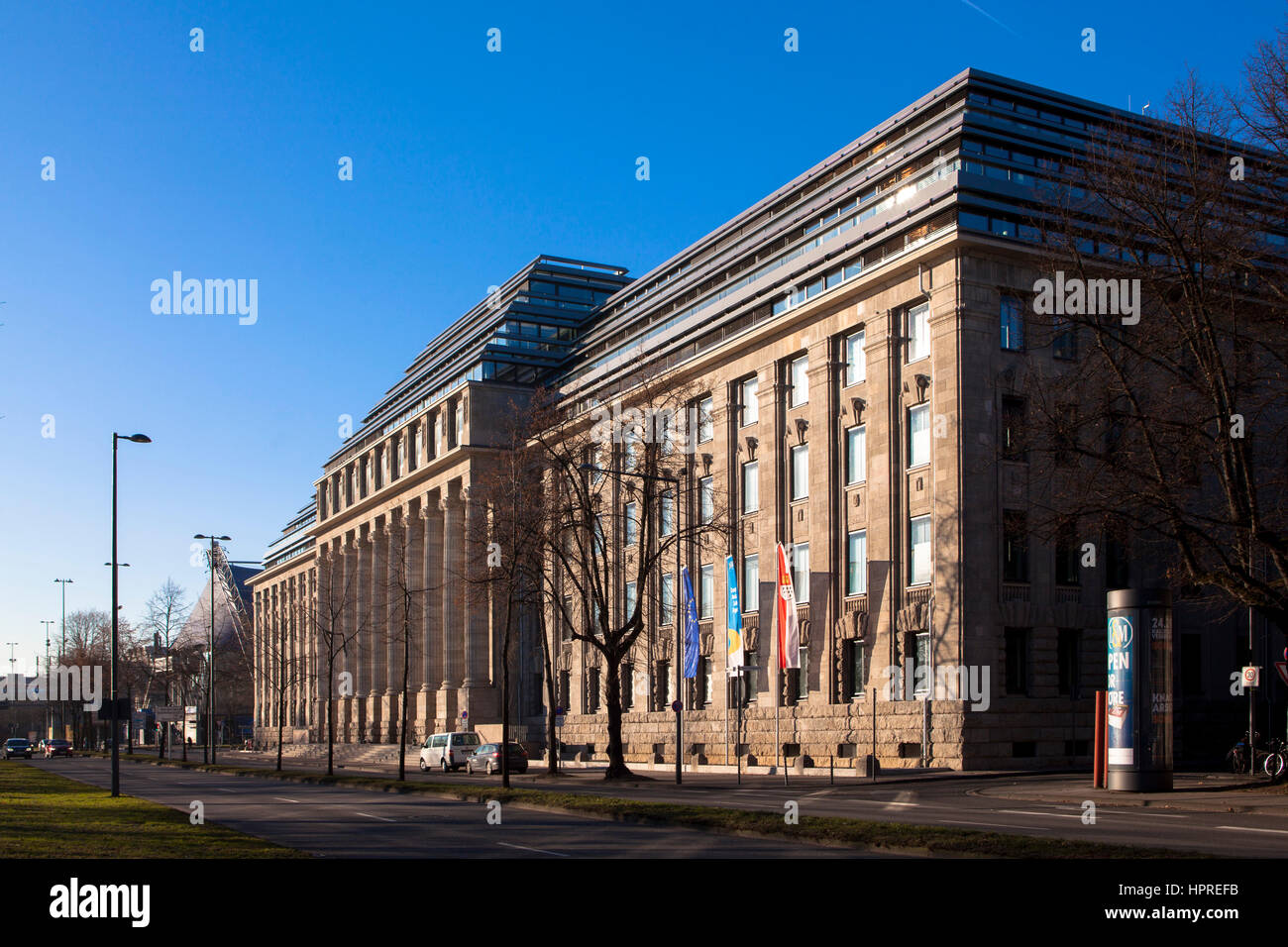 Germany, Cologne, the office building 'Neue Direktion' at the street Konrad-Adenauer-Ufer, head office of - Stock Image