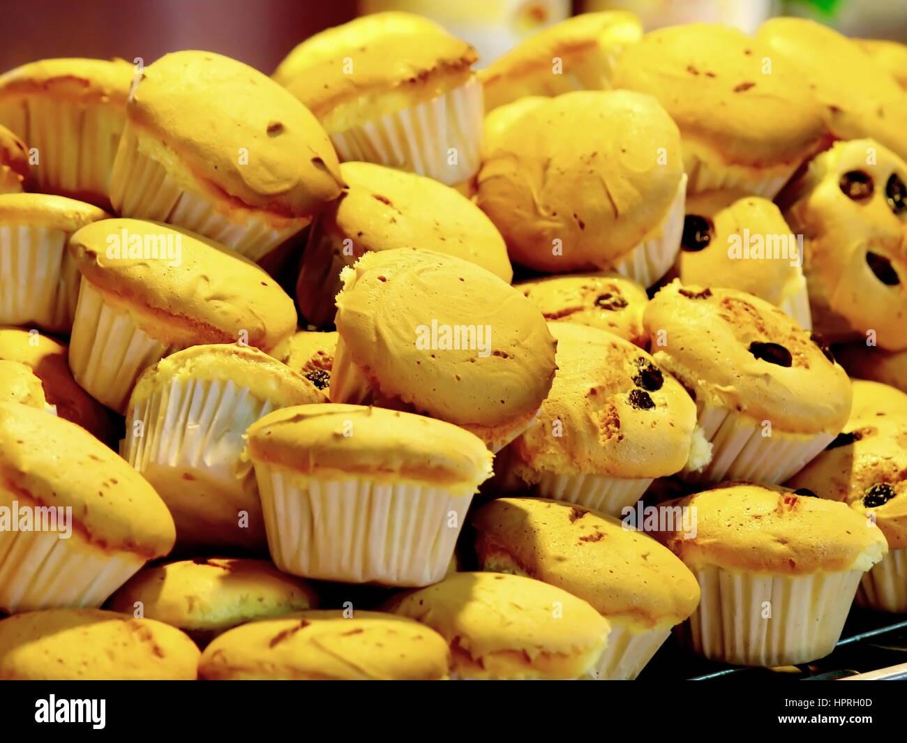 Thai Cupcake in Thai Local Market - Stock Image