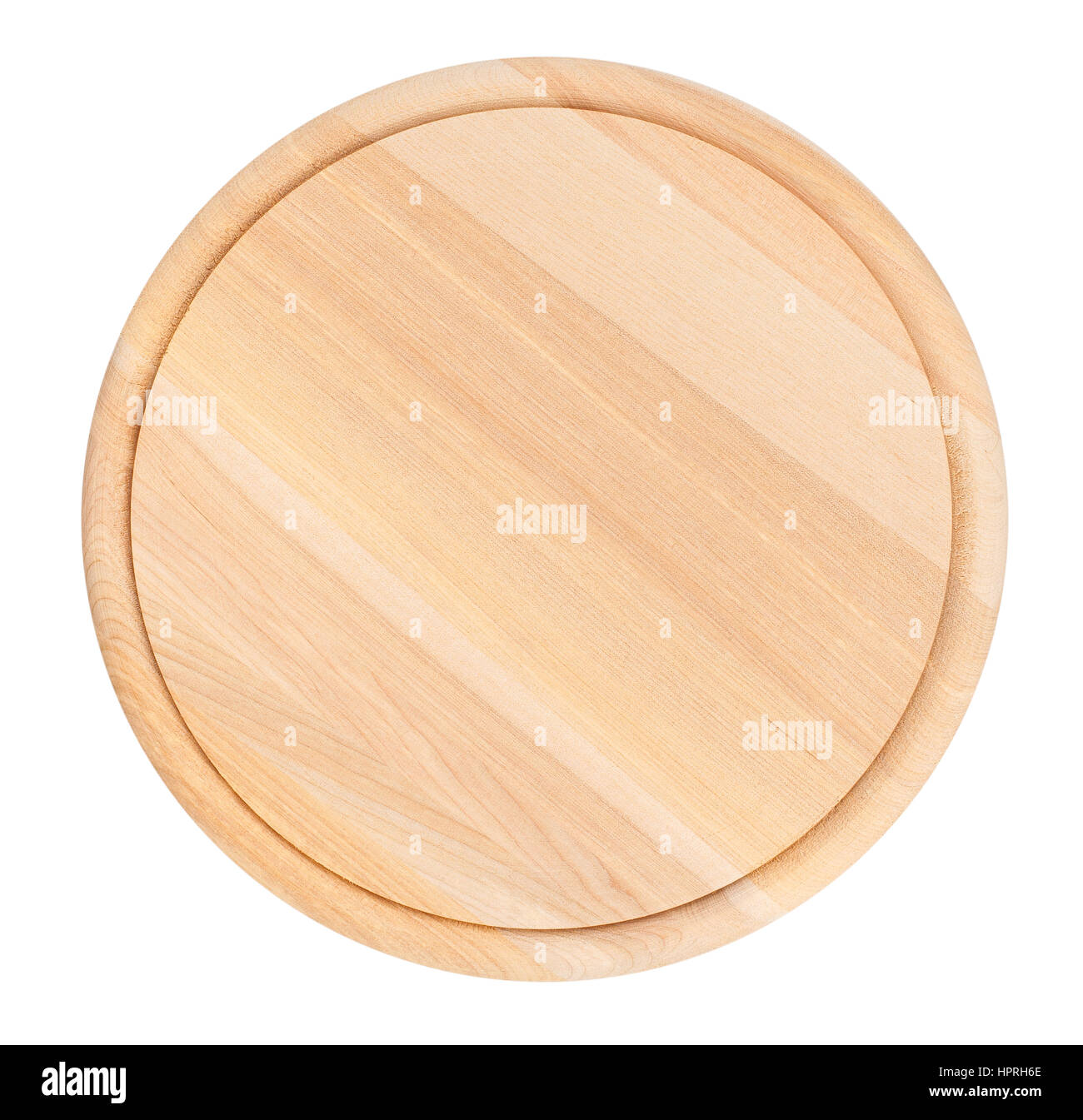 round cutting board isolated - Stock Image