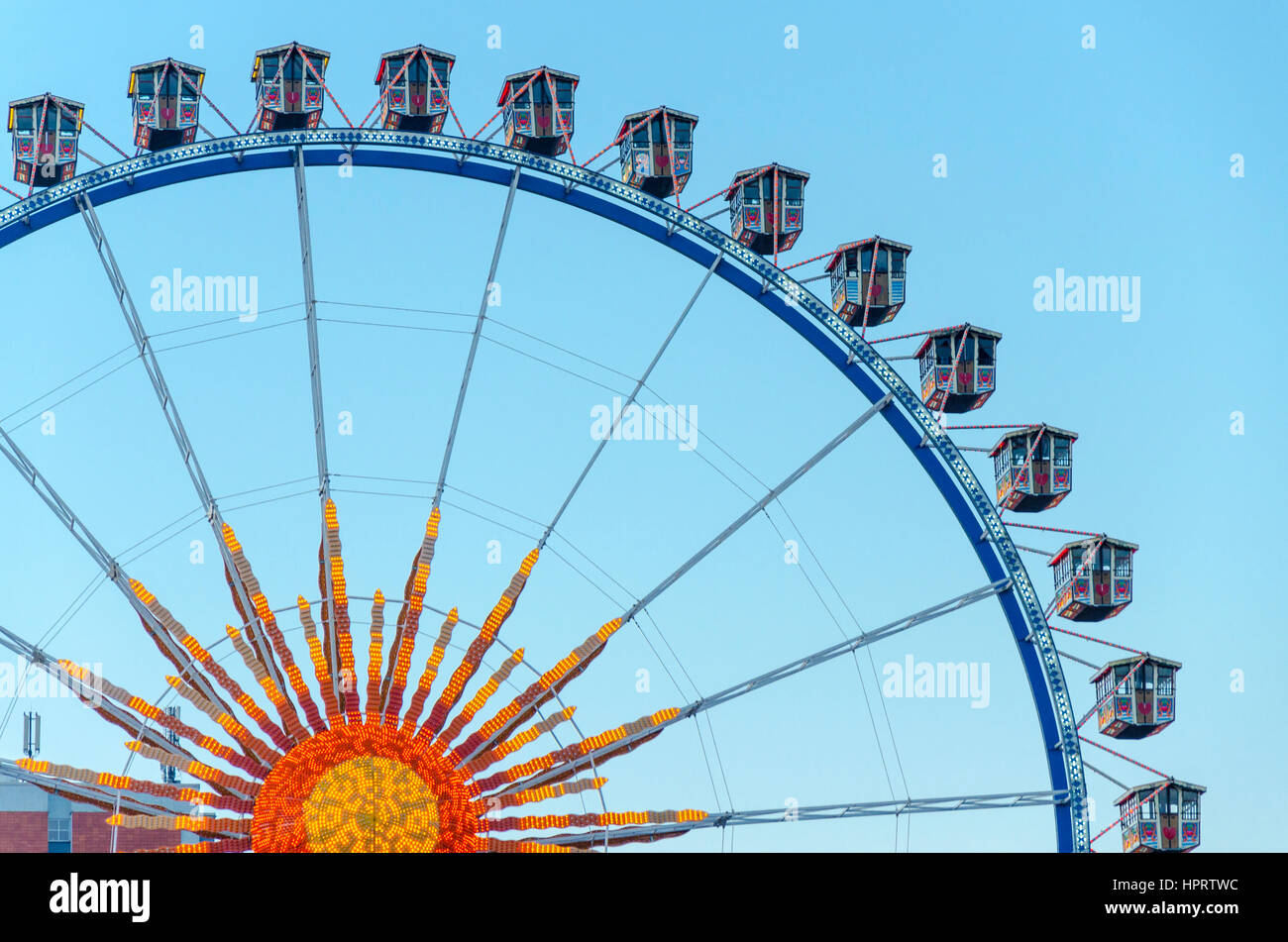 Ferris Wheel at Berliner Weihnachtszeit, German christmas market, Berlin, Germany - Stock Image