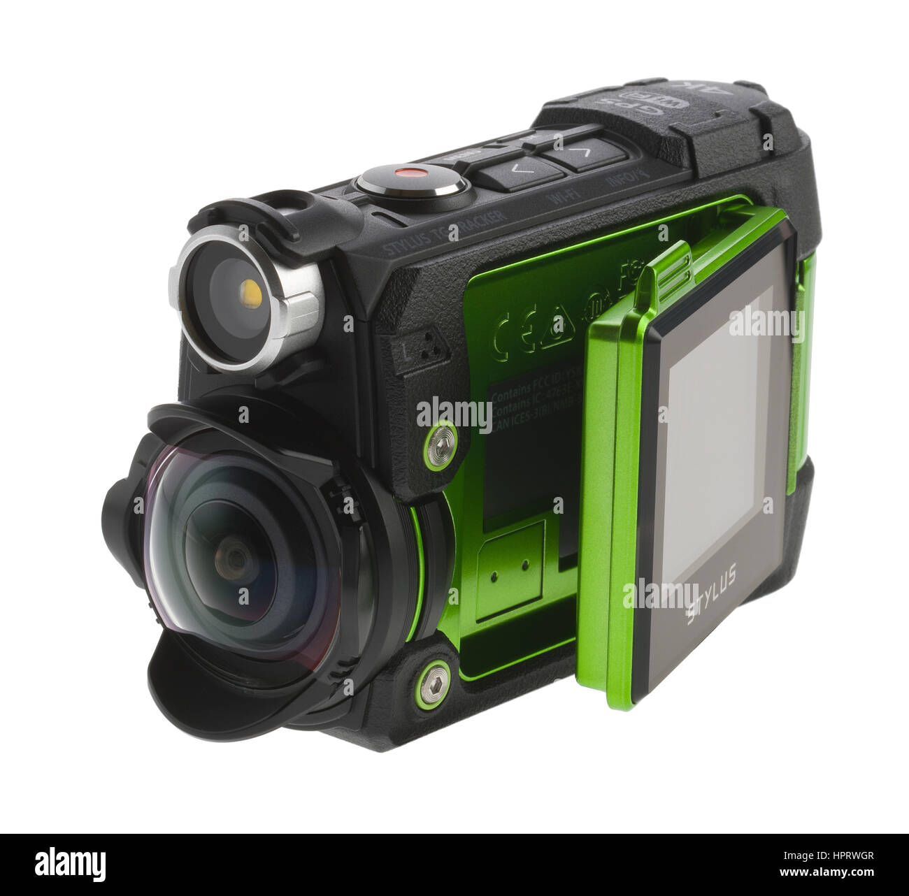 Olympus Tough video and stills camera. Movie camera for action sports. Can withstand very cold temperatures and - Stock Image