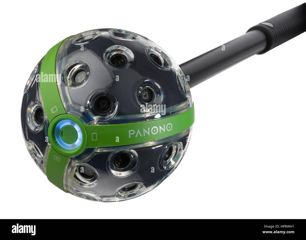 Panono 360 degree camera. Panoramic ball camera that makes full 360 degree images. - Stock Image