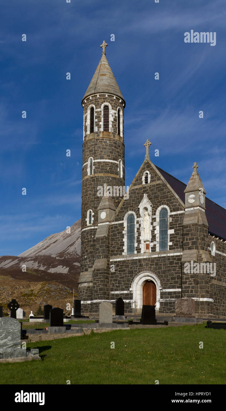 Dunlewey Roman Catholic Church, Co. Donegal, Ireland - Stock Image
