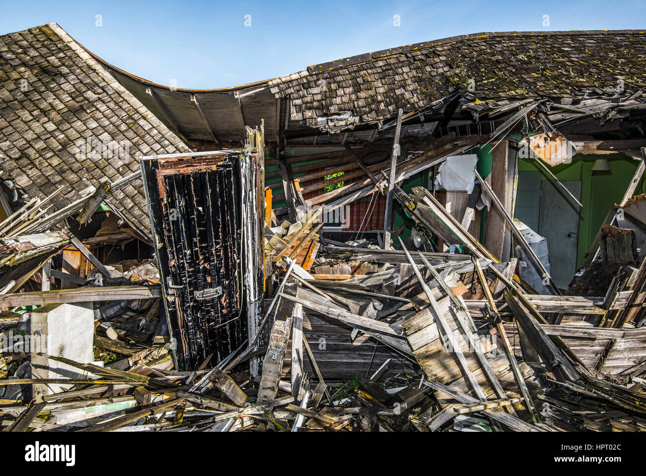 A demolished building - Stock Image