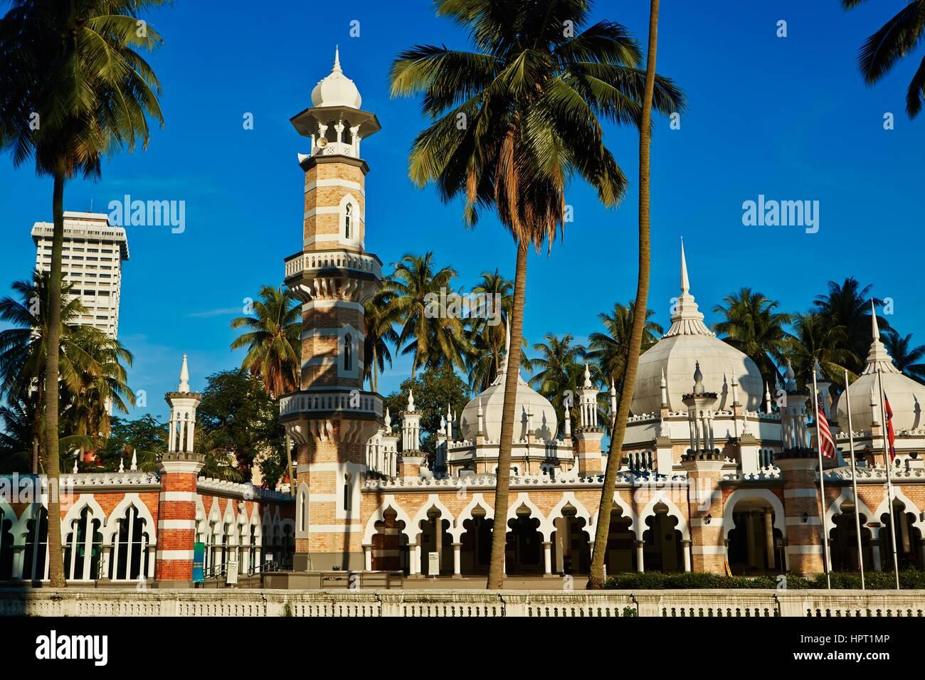 Mosque Masjid Jamek in Kuala Lumpur, Malaysia - Stock Image