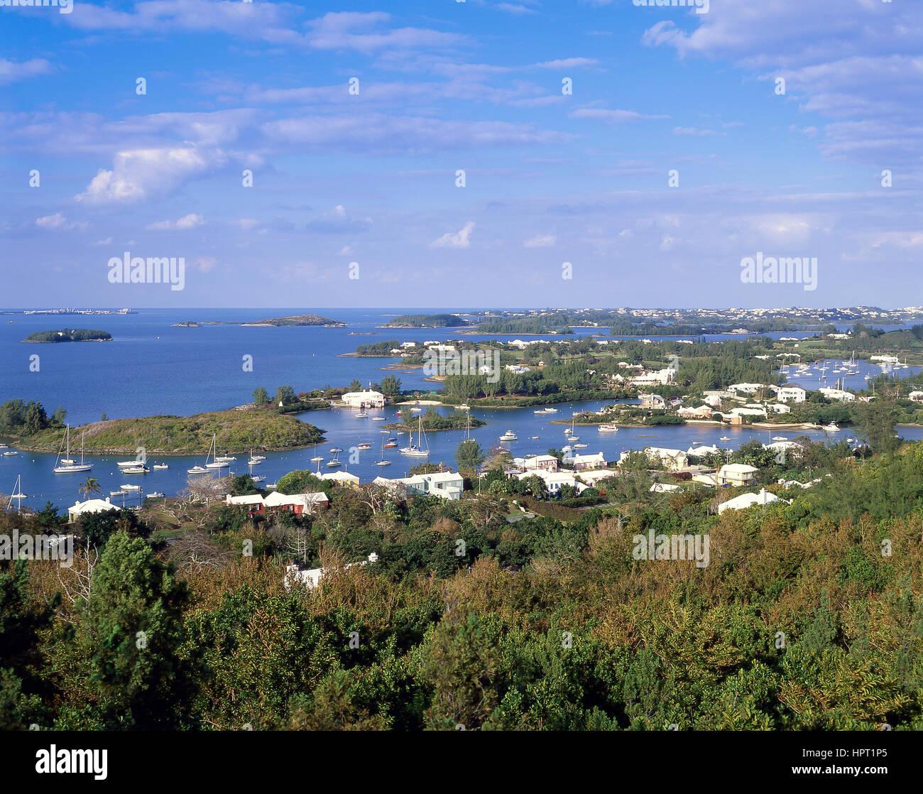 View of inlet, Jew's Bay, Southampton Parish, Bermuda - Stock Image