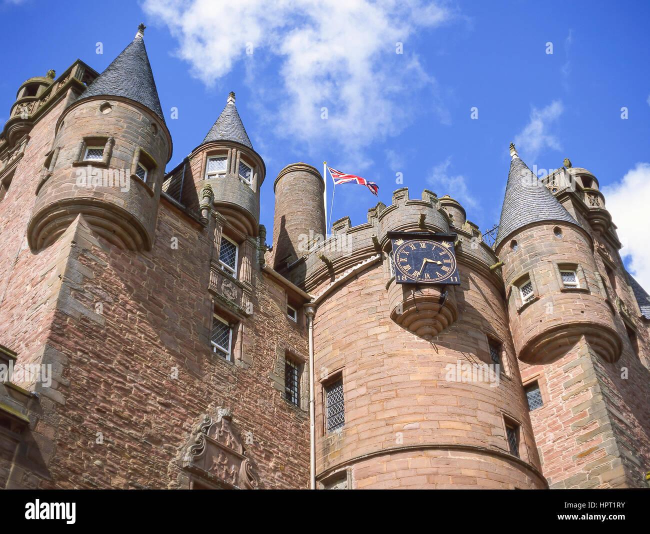 17th century Glamis Castle, Glamis, Angus, Scotland, United Kingdom - Stock Image