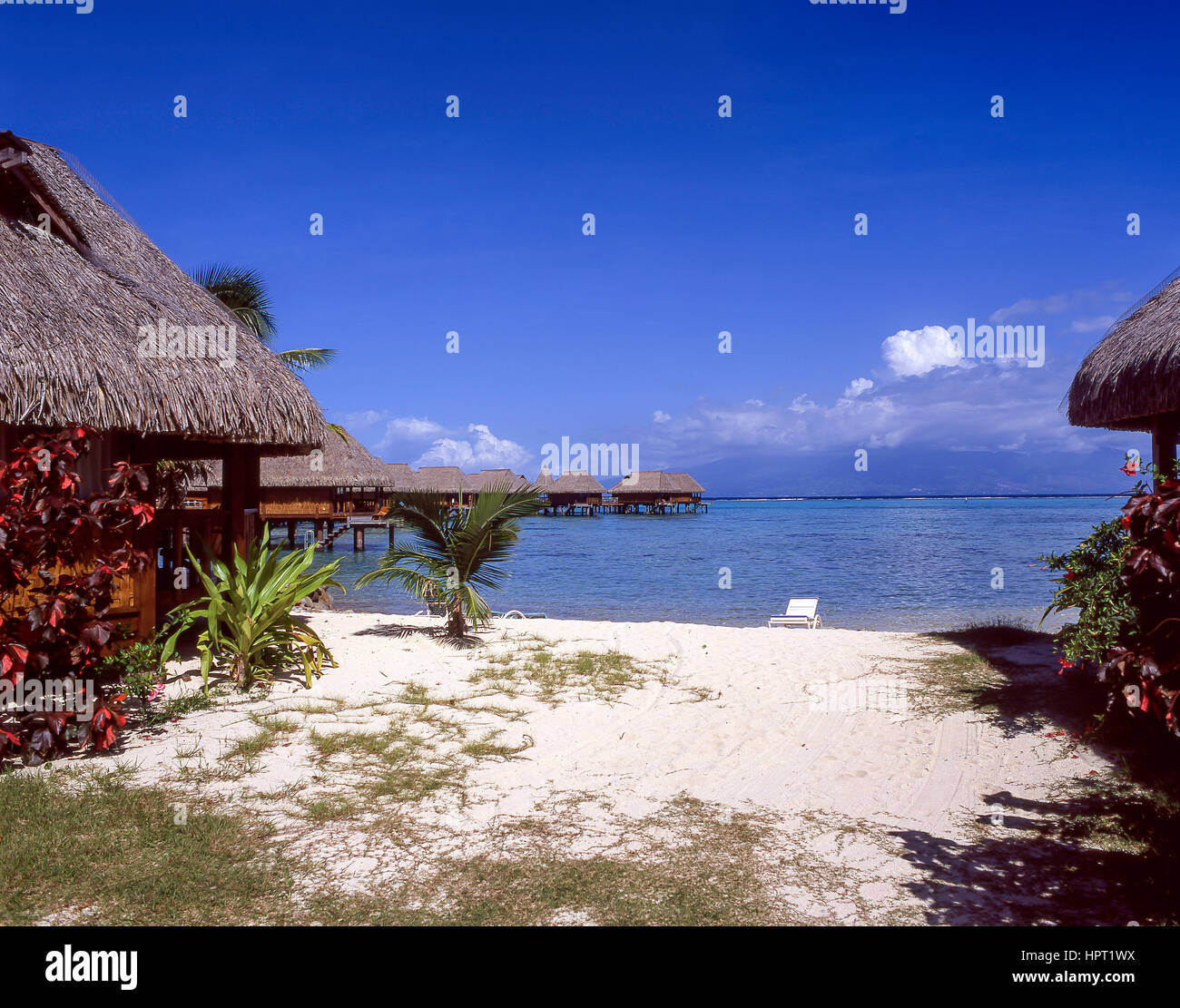 View Of Cabins Over Sea Sofitel Hotel Moorea French