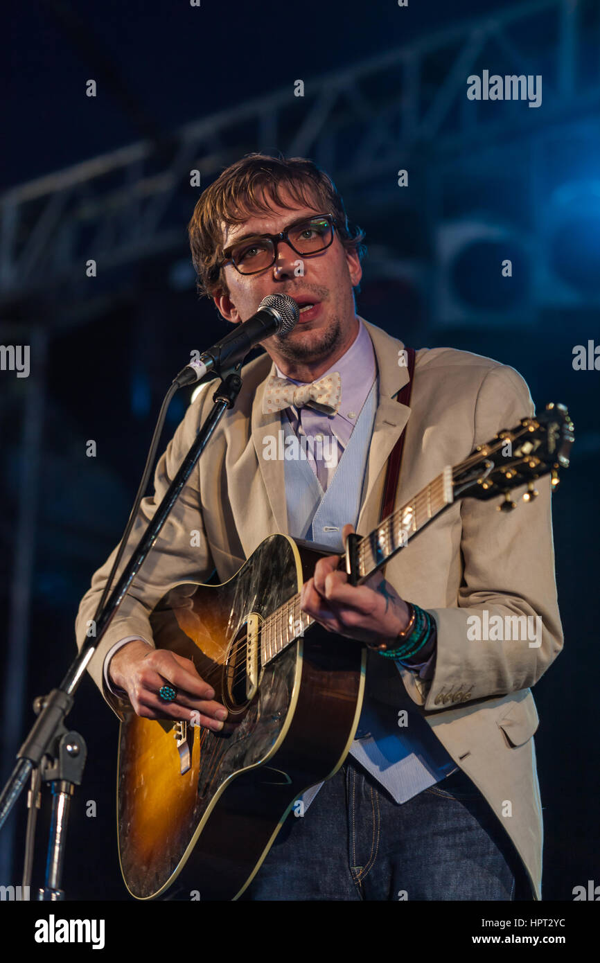 Justin Townes Earle, son of Steve Earle, is a contemporary Americana singer/songwriter. April 5, 2010, Byron Bay - Stock Image