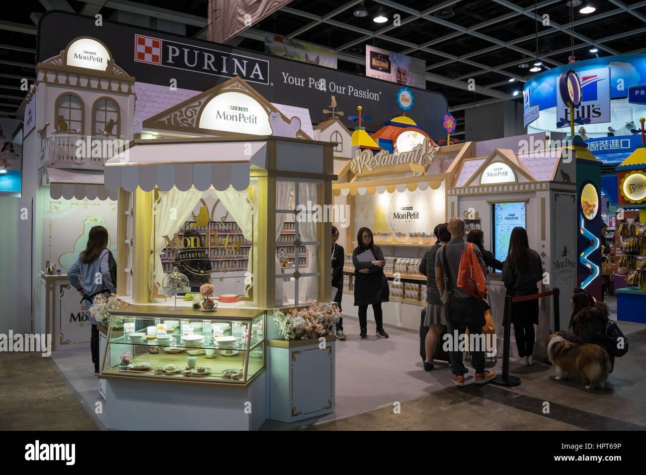 Exhibition Booth Rental Hong Kong : Pet food exhibition booth stock photos