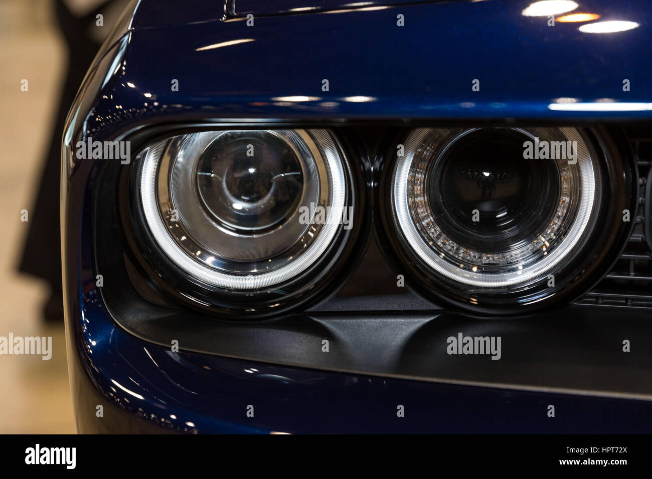 Chicago, IL, USA. 8th Feb, 2017. Dodge Challenger at the Chicago Auto Show at McCormick Place Convention Center Stock Photo