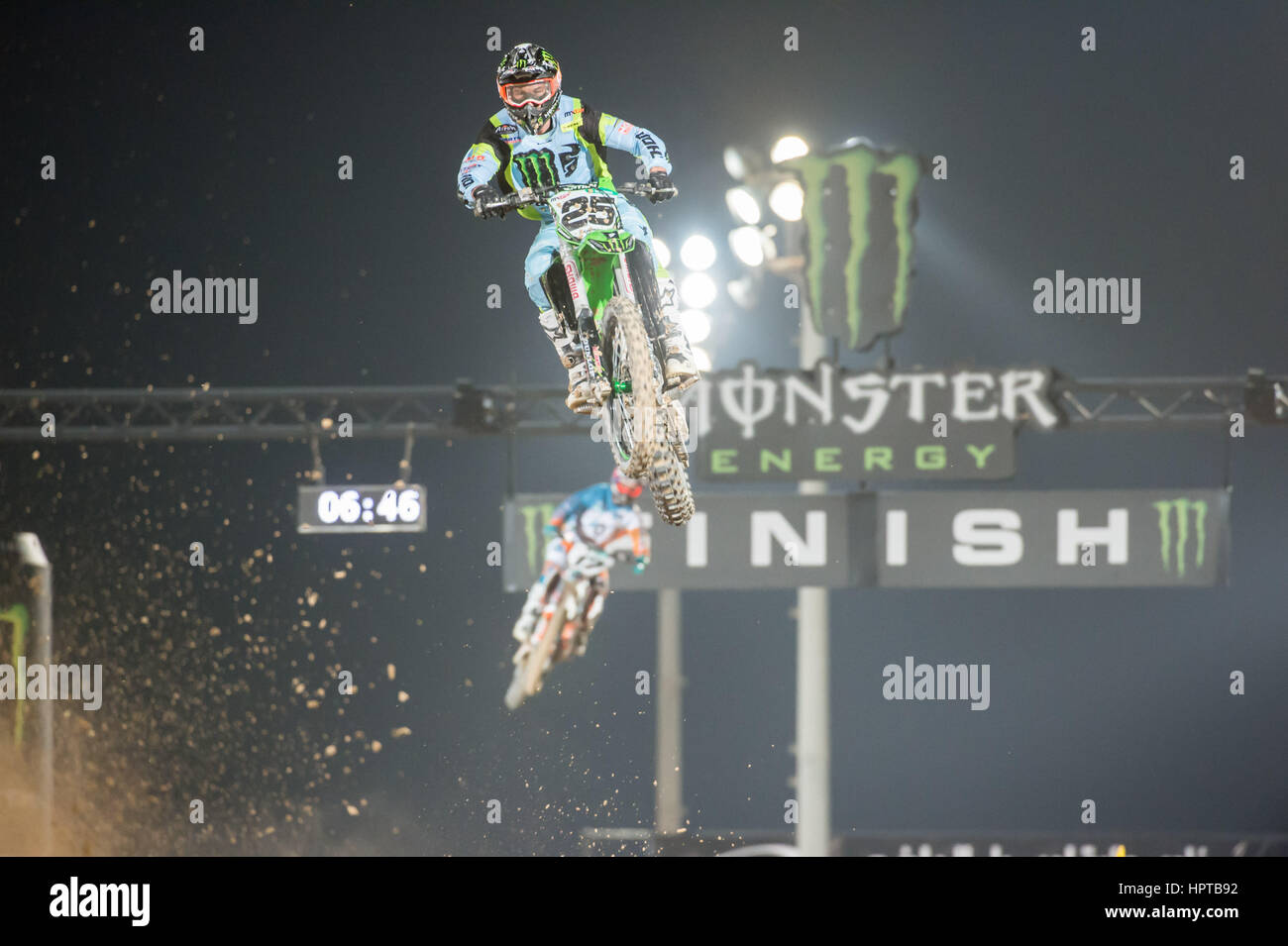 Losail Motocross Track, Qatar. 24th Feb, 2017. Clement Desalle during the opening day of the Motocross Grand Prix Stock Photo