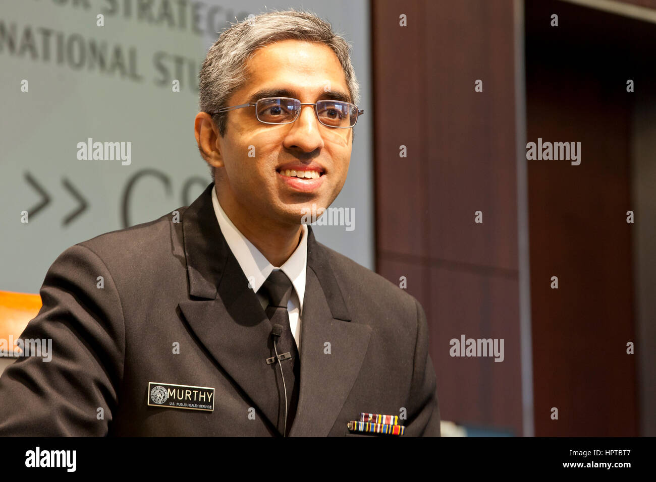 February 24, 2017, Washington, DC USA: US Surgeon General Dr. Vivek H. Murthy discusses current US medical issues, - Stock Image