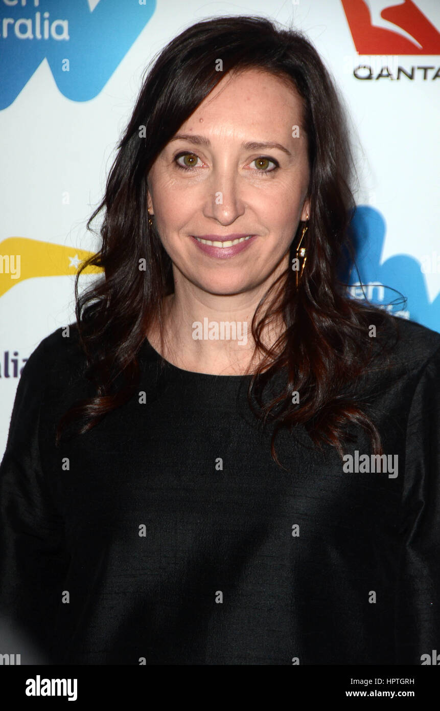 Los Angeles, Ca, USA. 24th Feb, 2017. Angie Fielder at the Screen Australia and Australians in Film reception for - Stock Image