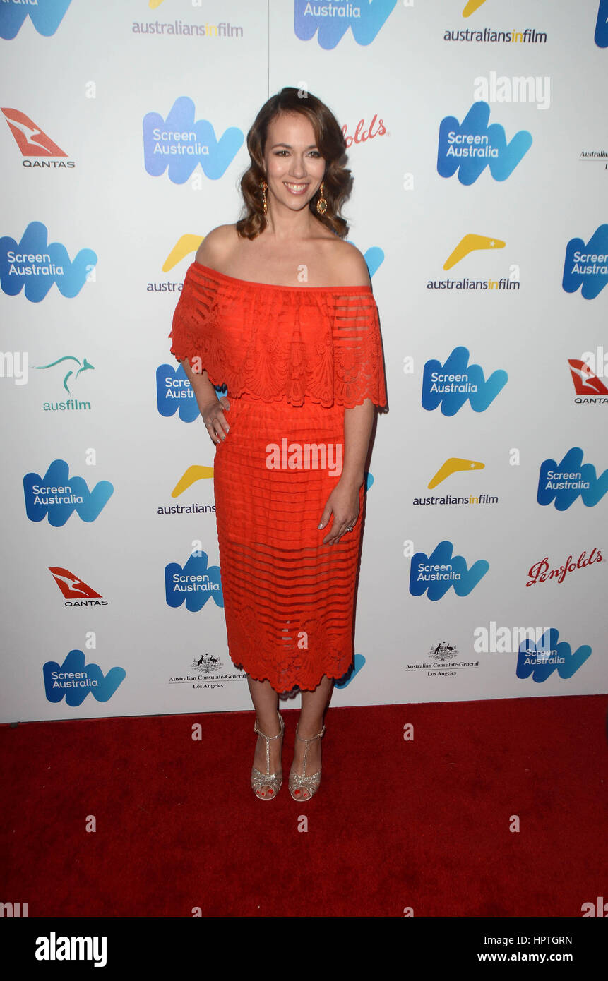 Los Angeles, Ca, USA. 24th Feb, 2017. Polly Staniford at the Screen Australia and Australians in Film reception - Stock Image