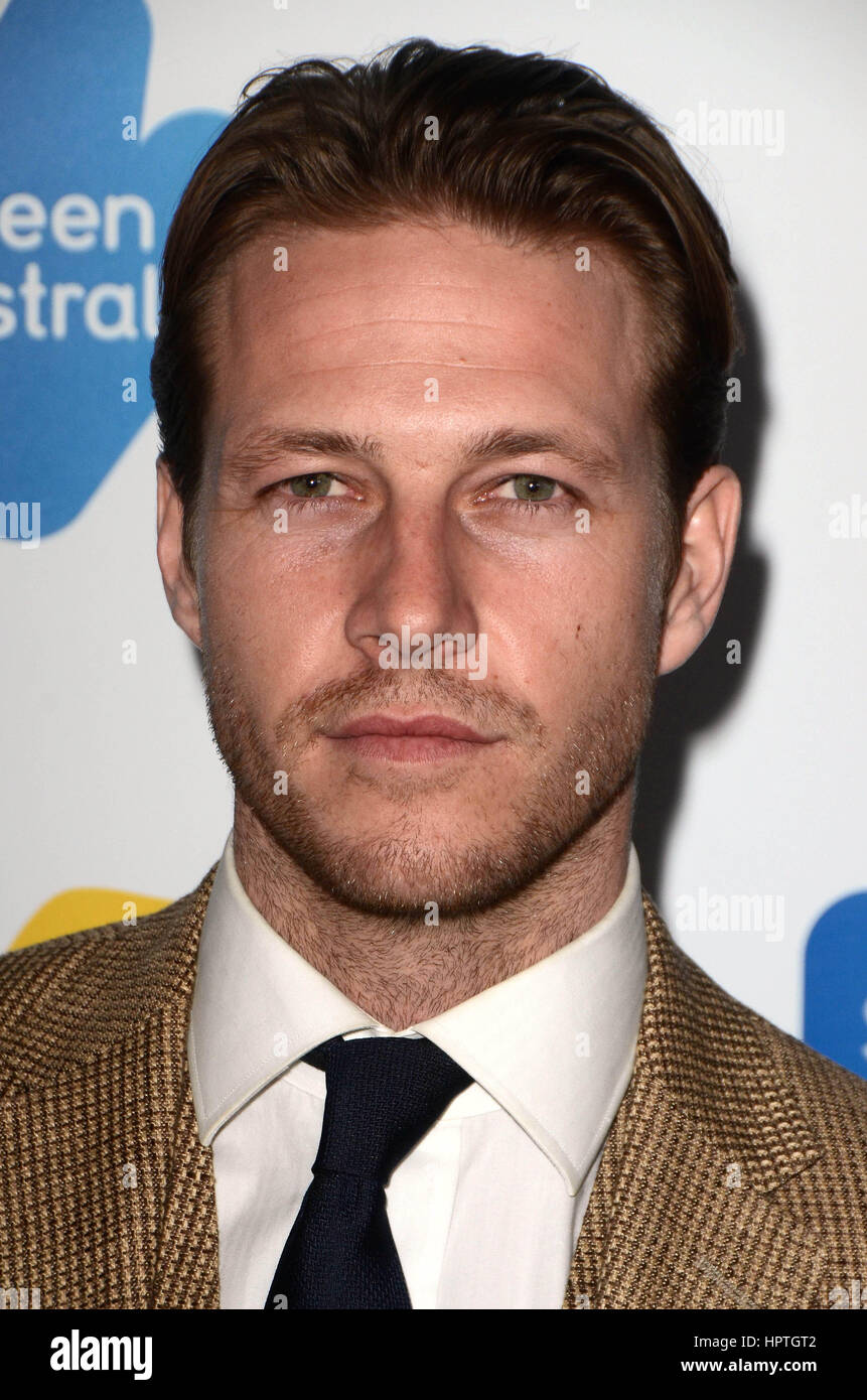 Los Angeles, Ca, USA. 24th Feb, 2017. Luke Bracey at the Screen Australia and Australians in Film reception for - Stock Image