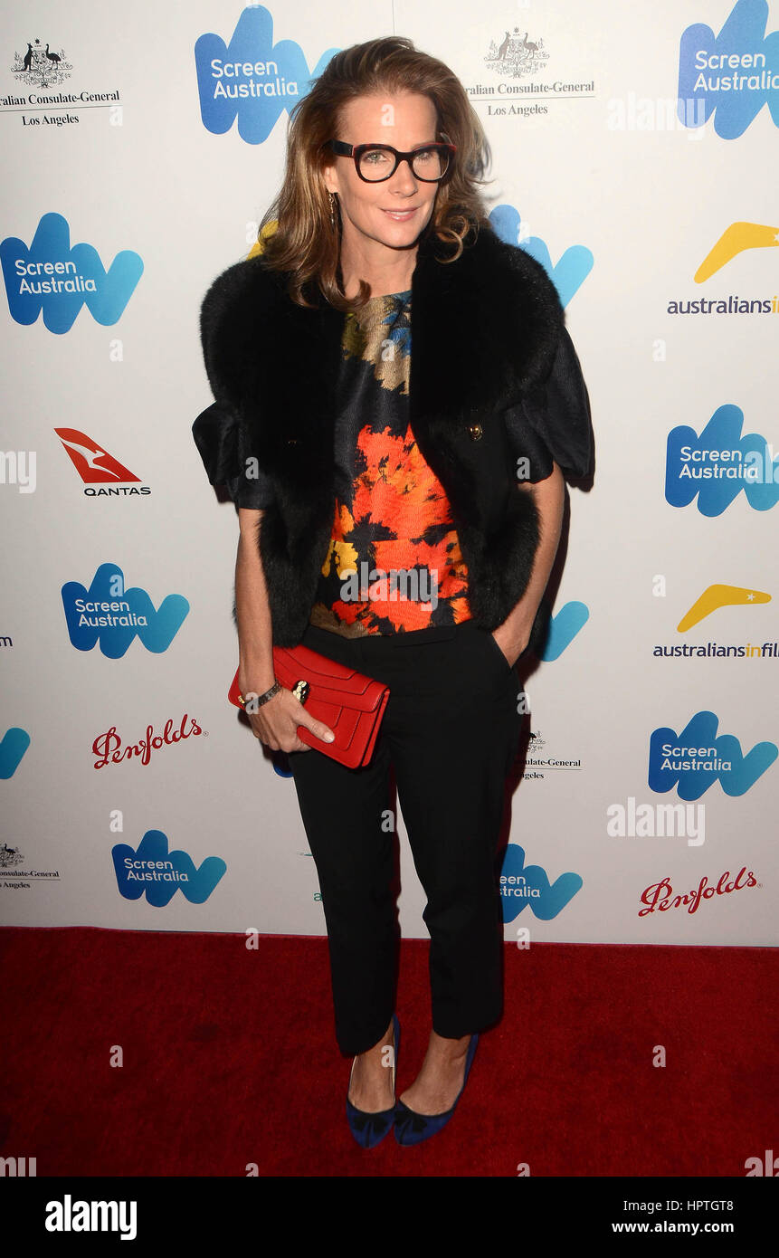 Los Angeles, Ca, USA. 24th Feb, 2017. Rachel Griffiths at the Screen Australia and Australians in Film reception - Stock Image