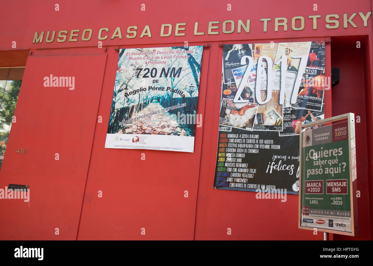 Mexico city, Mexico. Friday 24th February 2017. `Museum at Leon Trotsky's house in Mexico city mounting exhibition - Stock Image