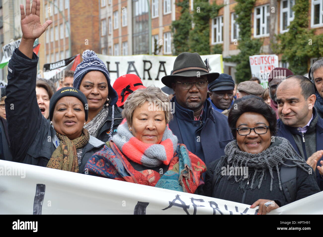 Berlin, Germany 25th Feb, 2017 The Memorial March for the African Victims of Colonialism in Berlin, Germany. Credit: - Stock Image