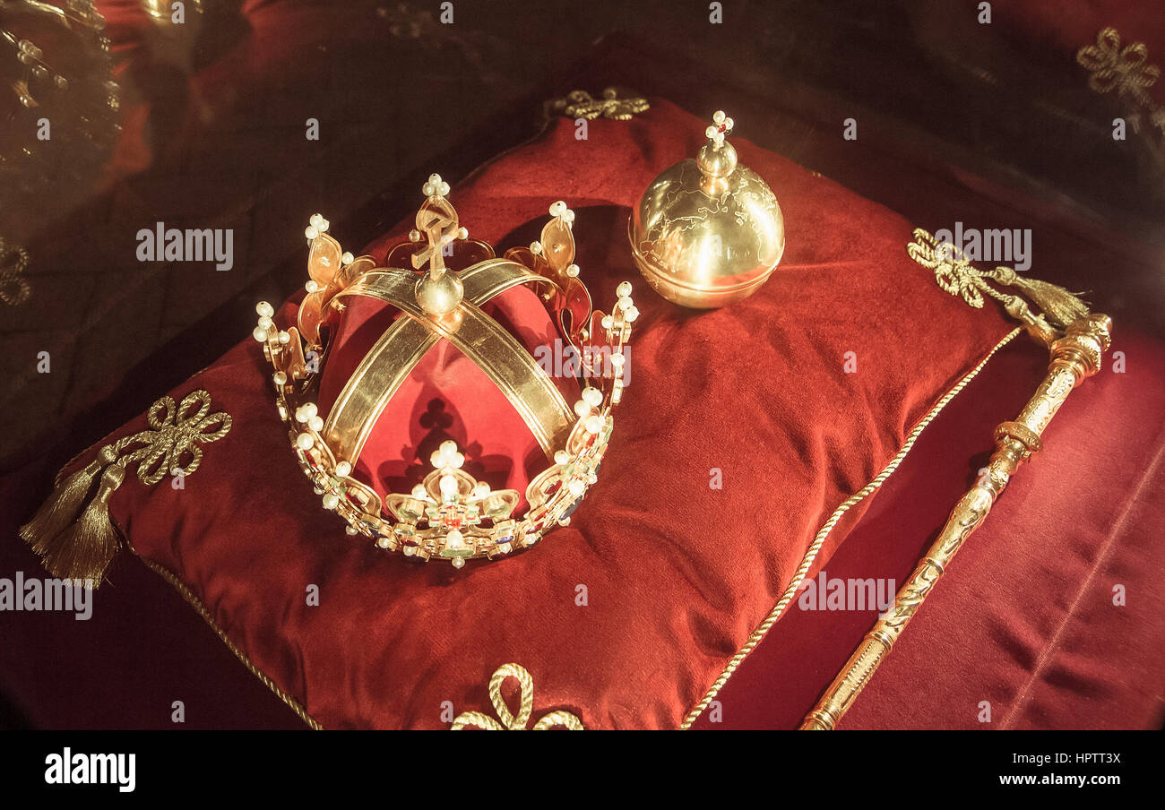 crown king jewels - Stock Image