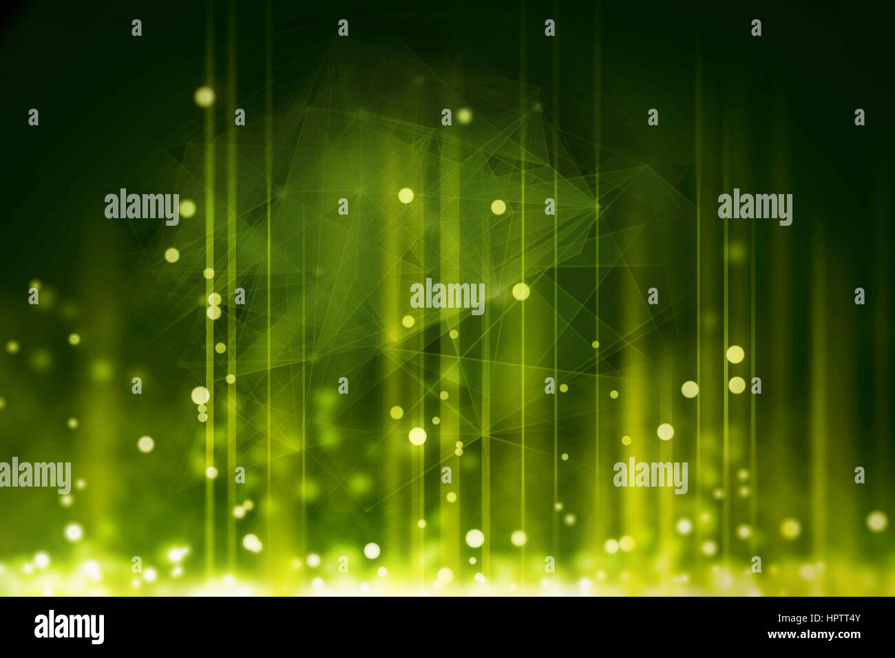 green matrix code background - Stock Image