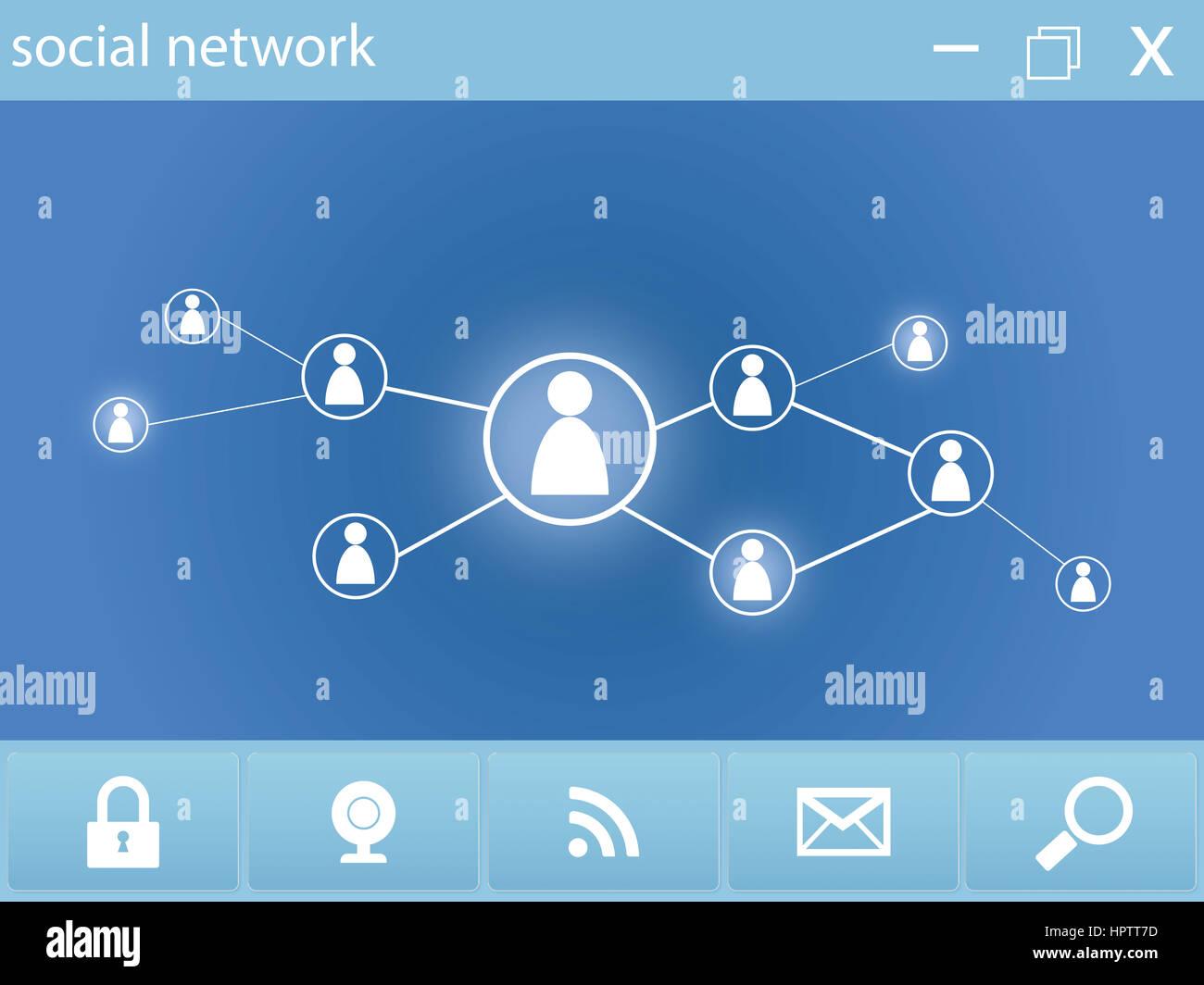 social network webpage - Stock Image