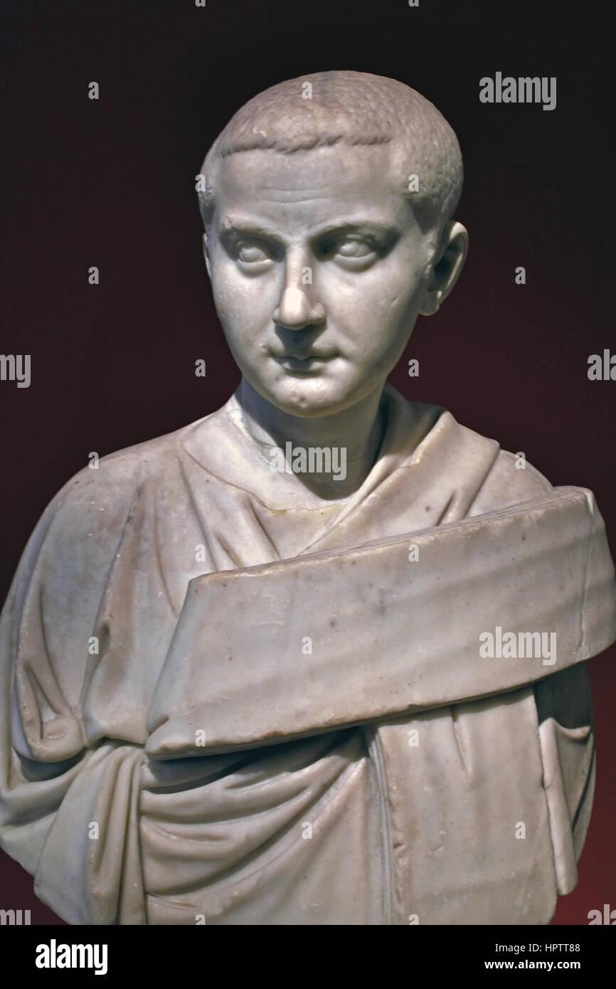 Emperor Gordian III  - Marcus Antonius Gordianus Pius Augustus 225 AD – 244 AD was Roman Emperor from 238 AD to - Stock Image