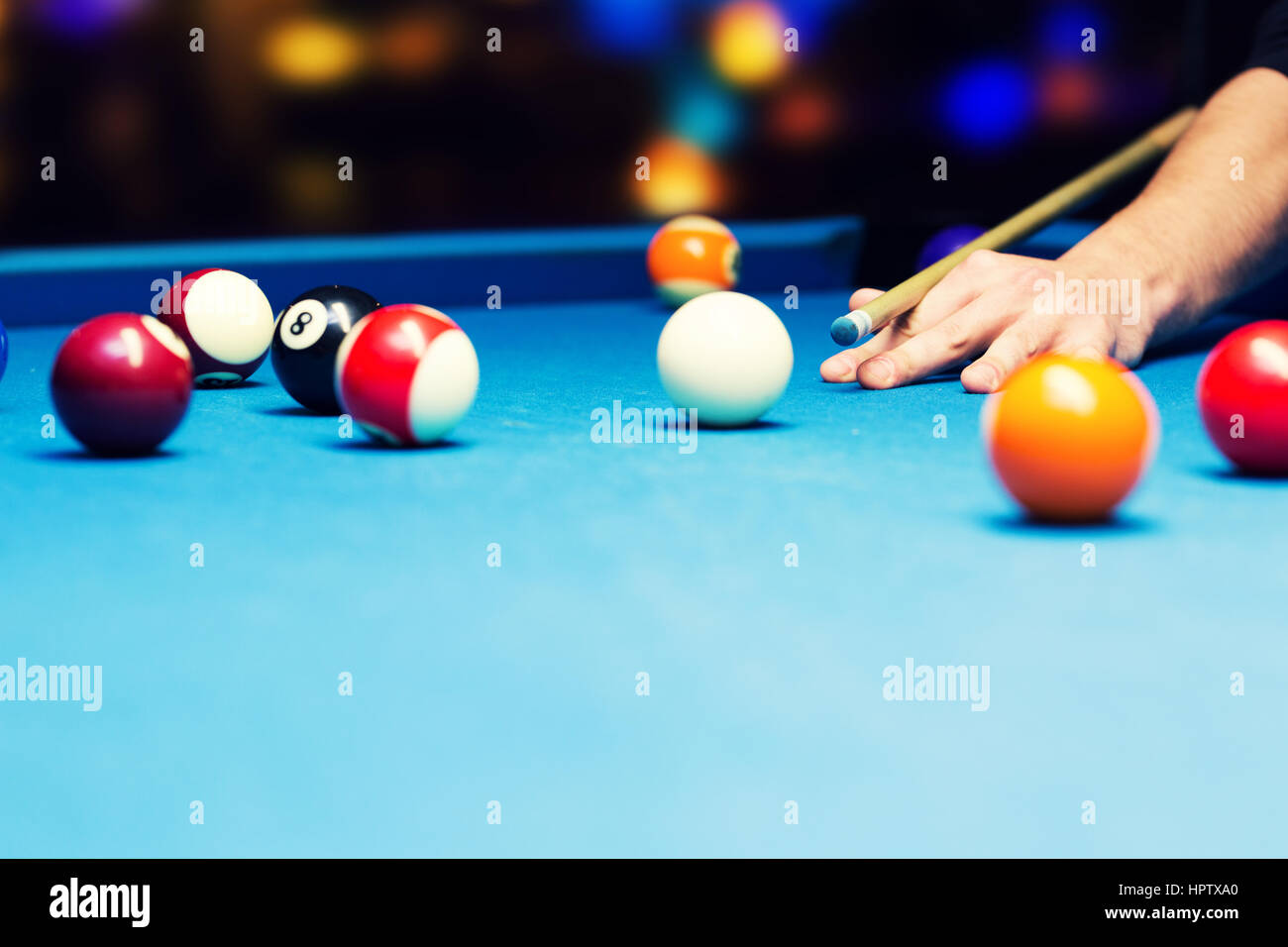 bar games - pool billiard - Stock Image