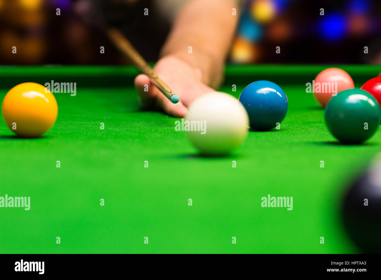 bar games - snooker - Stock Image
