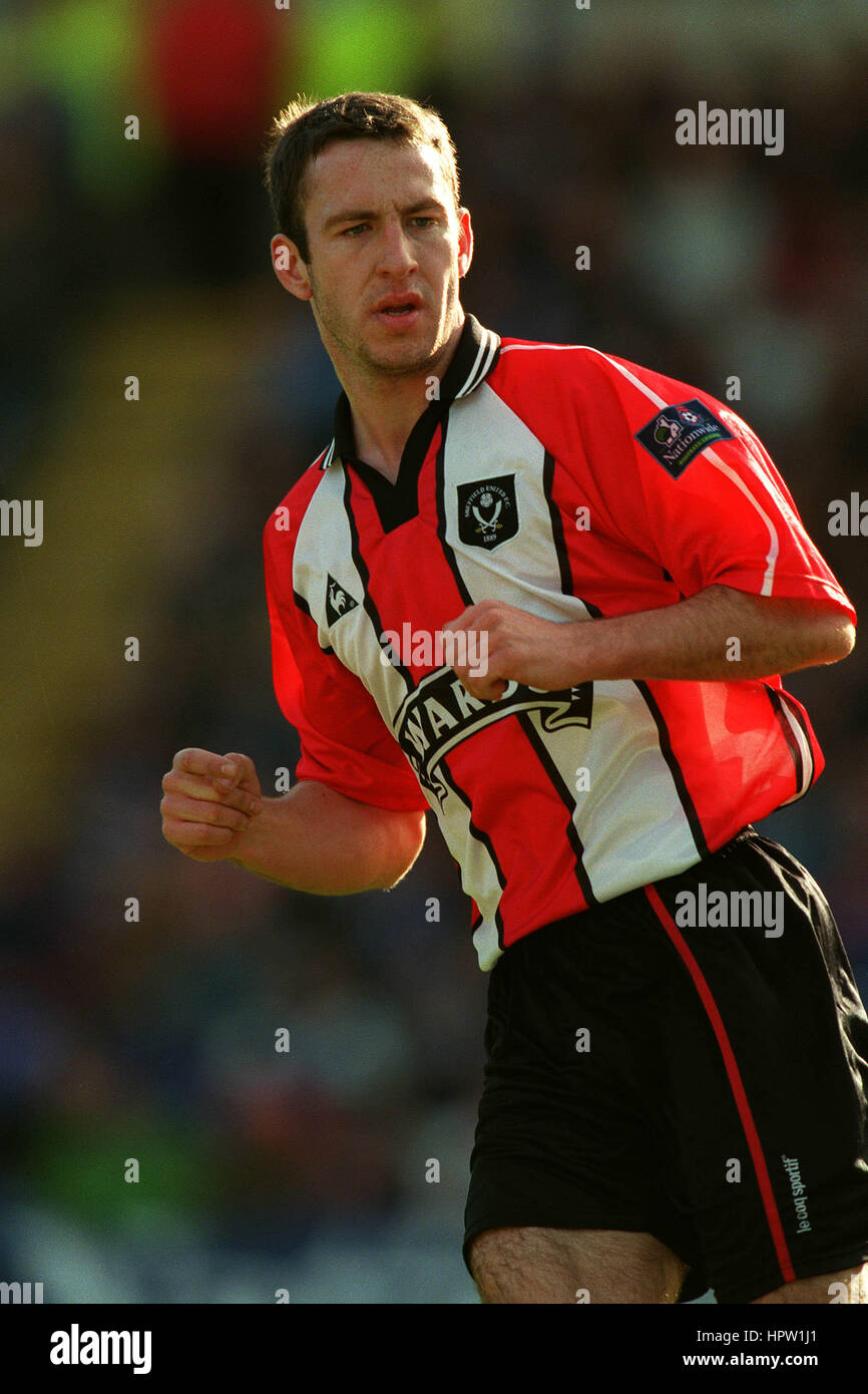 SEAN DENY SHEFFIELD UNITED FC 24 February 1998 - Stock Image