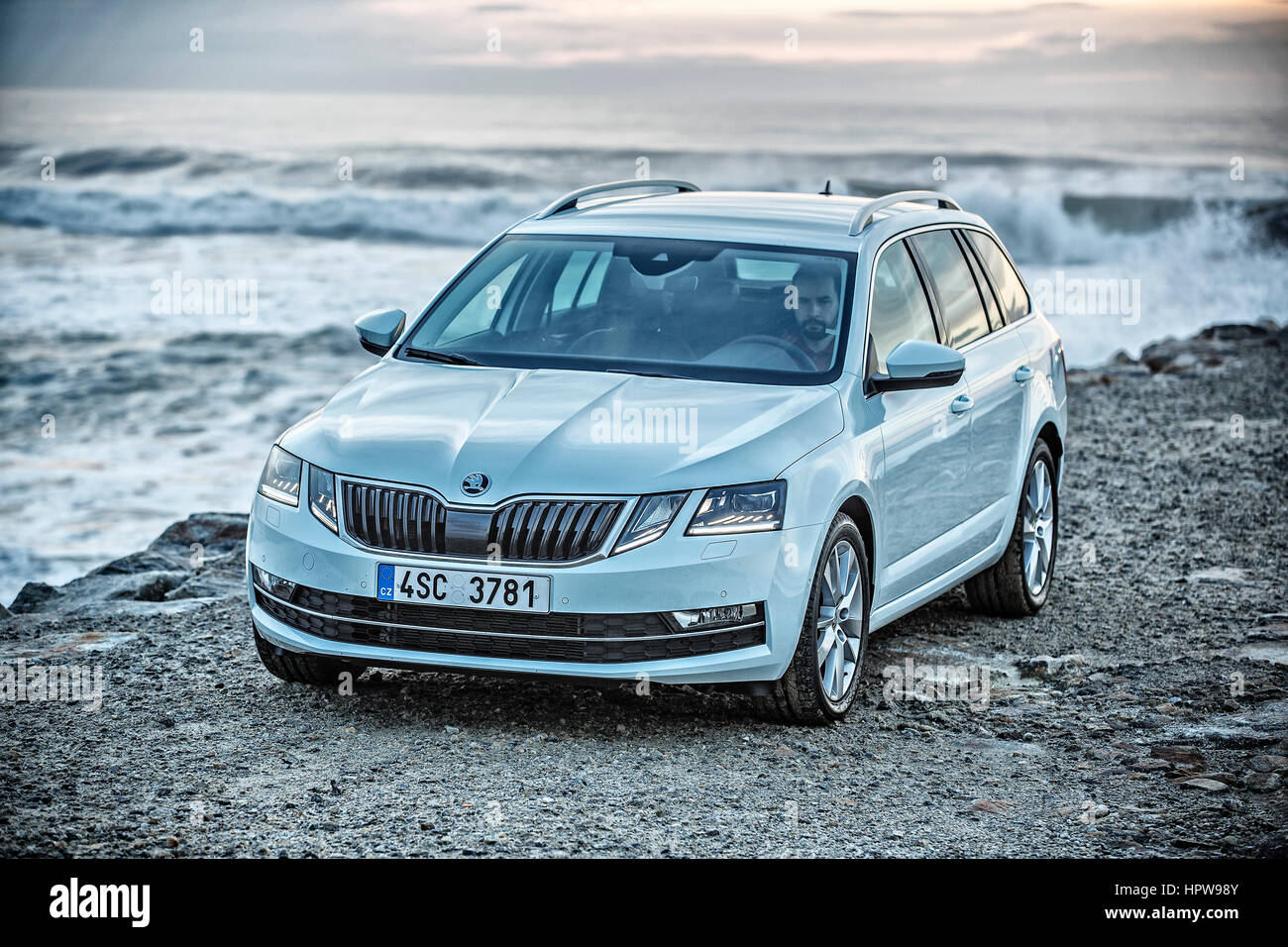 SKODA OCTAVIA III, facelift 2017 Stock Photo