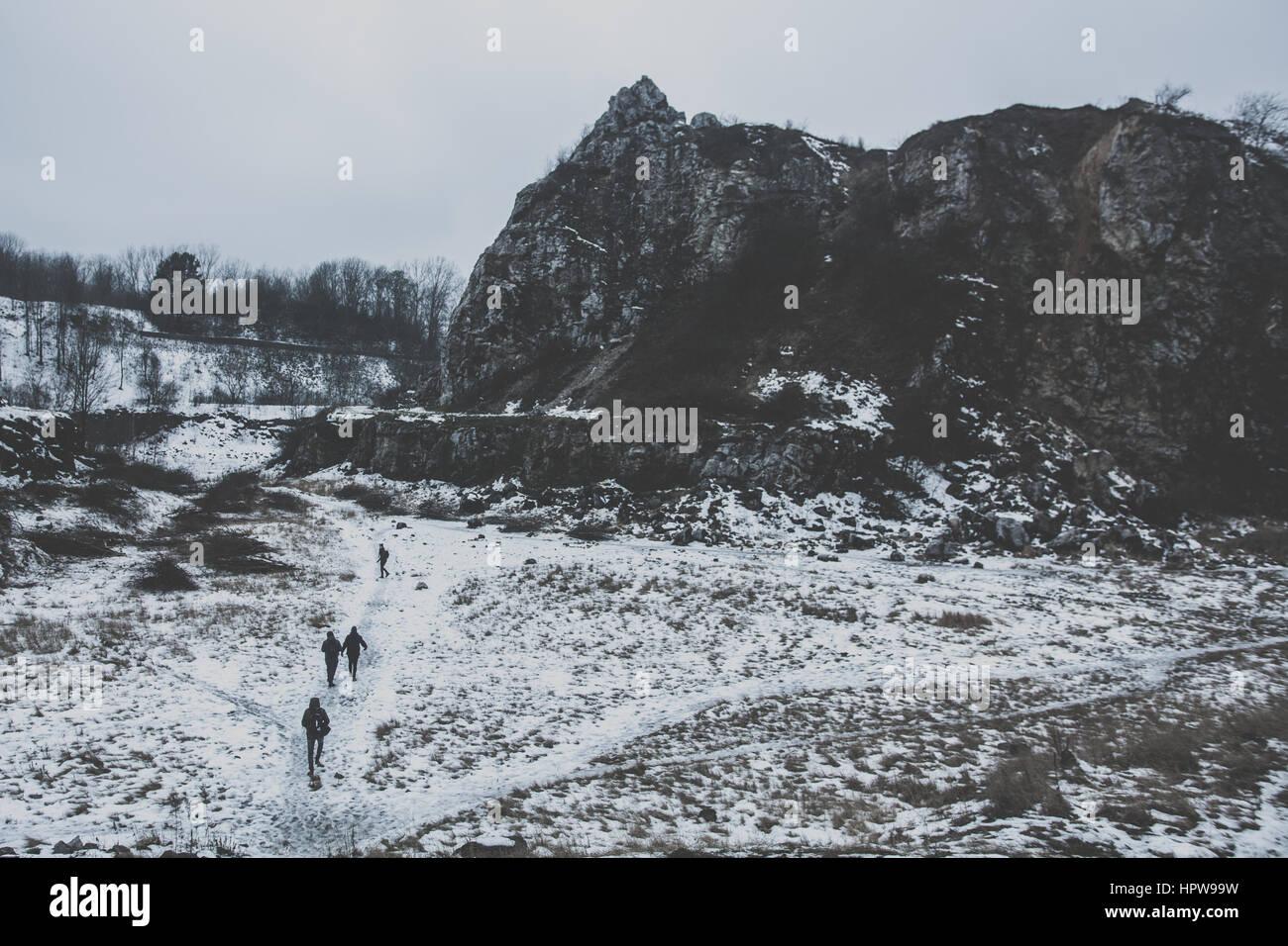 Winter wandering. - Stock Image