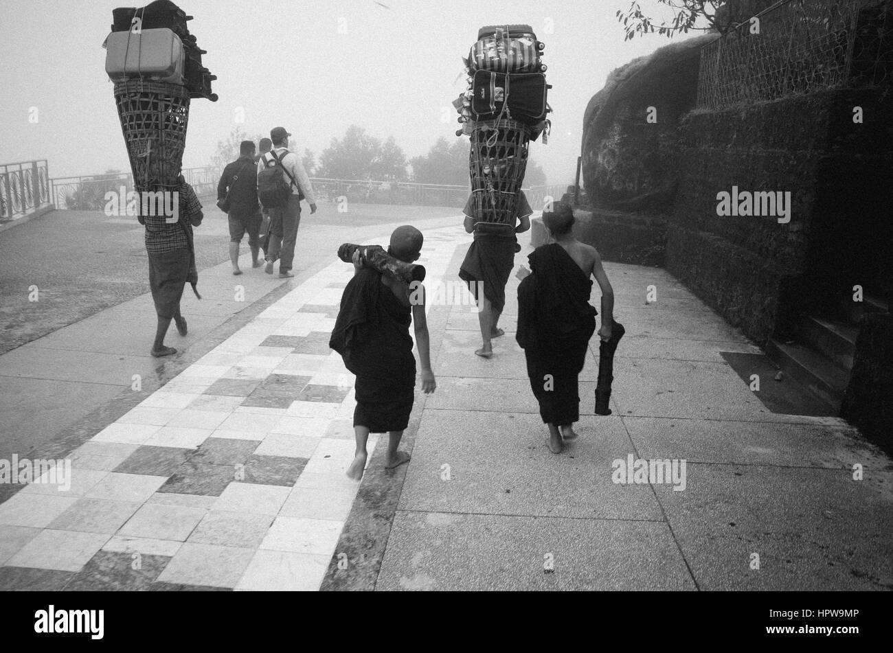 Little monks - Stock Image