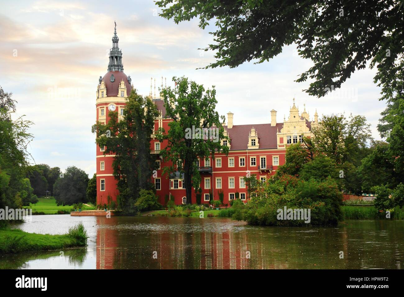 Palace In Bad Muskau Park Germany
