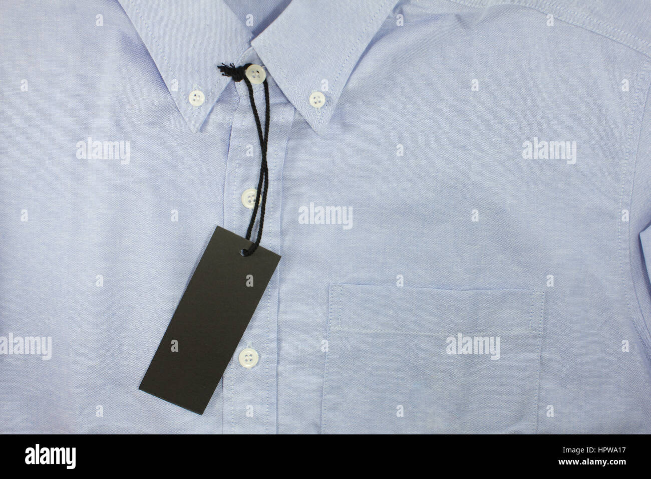 47ae62c8 black blank price tag on formal shirt · Kampanat Soontorn / Alamy Stock  Photo