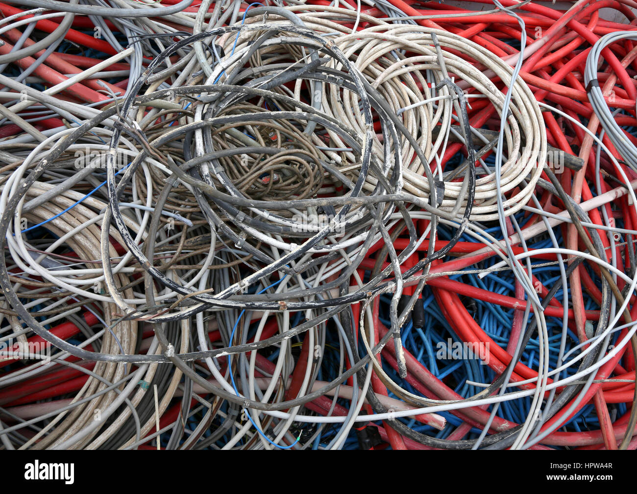Recycling Electricity Cables Stock Photos & Recycling Electricity ...