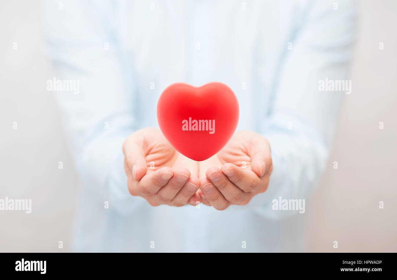 Health insurance or love concept - Stock Image