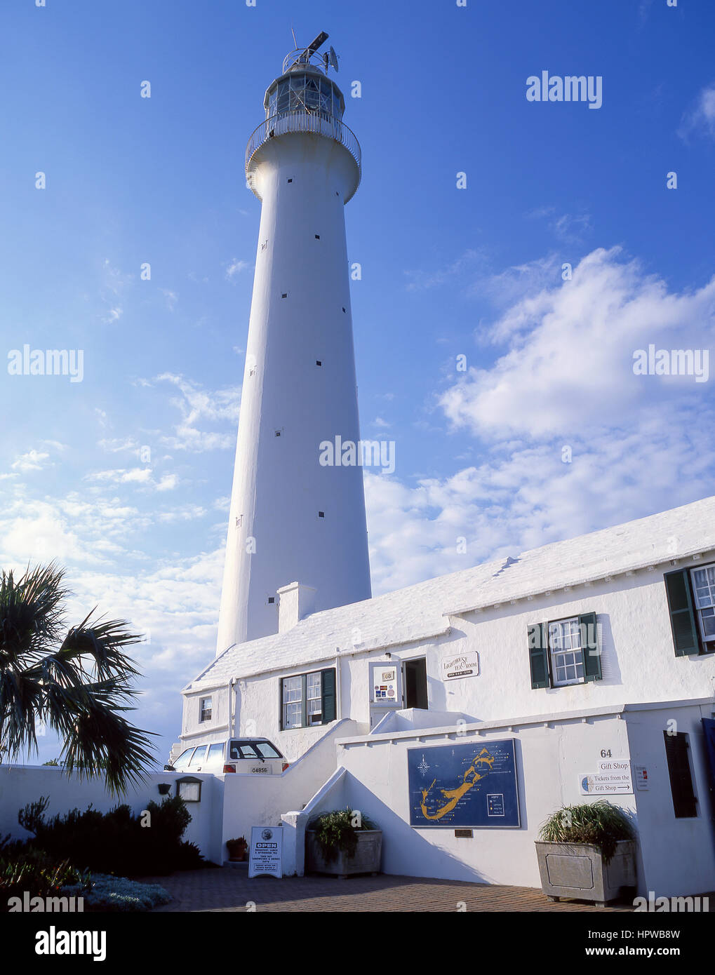 Gibb's Hill Lighthouse and tearooms, Southampton Parish, Bermuda - Stock Image