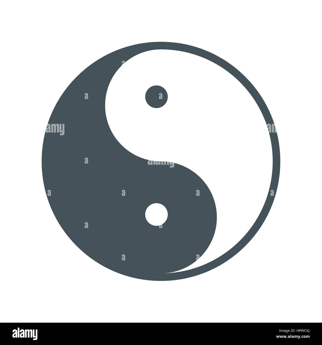 Yin Yang Symbol Stock Vector Images Alamy
