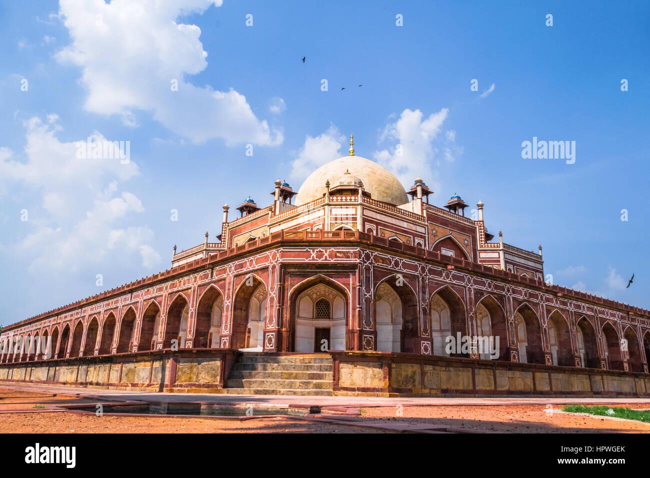 Beautiful view of Humayun's Tomb,  UNESCO World Heritage Centre, Delhi - Stock Image