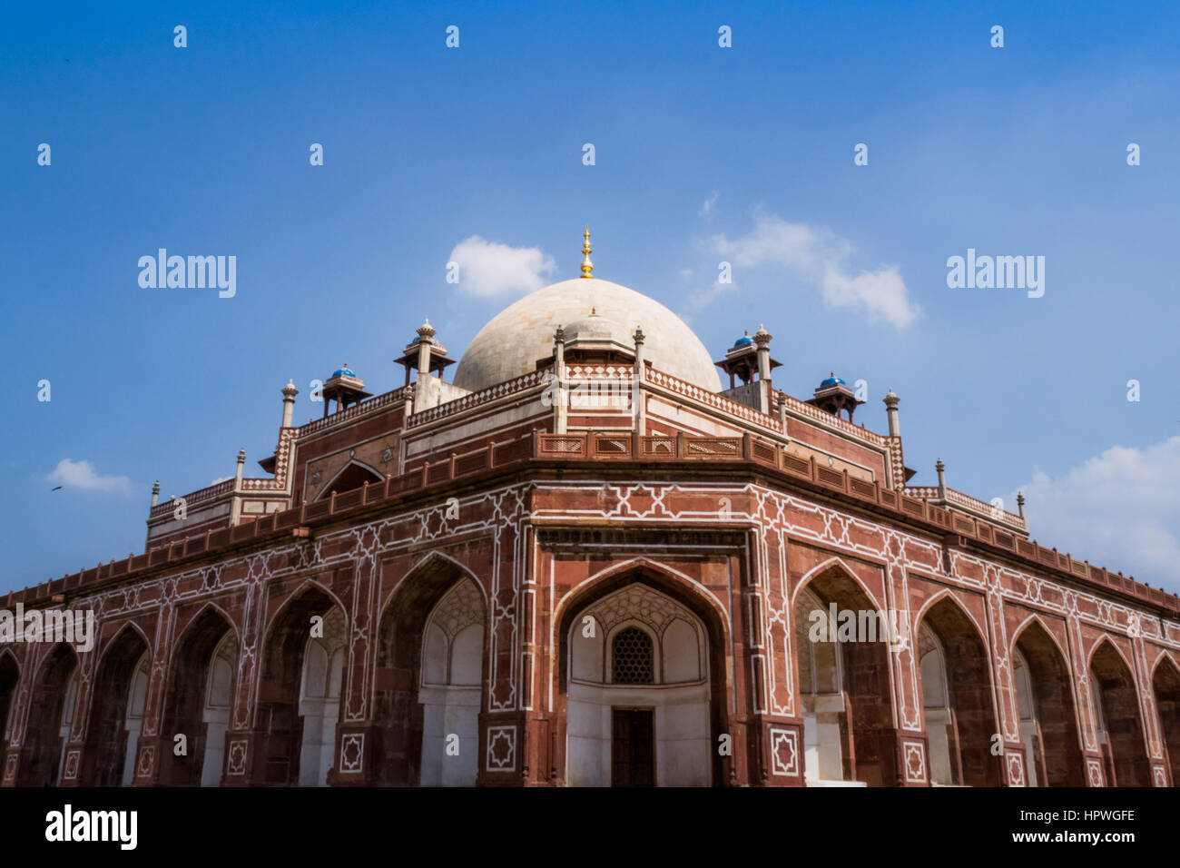 Frontal view of Humayun's Tomb,  UNESCO World Heritage Centre, Delhi - Stock Image