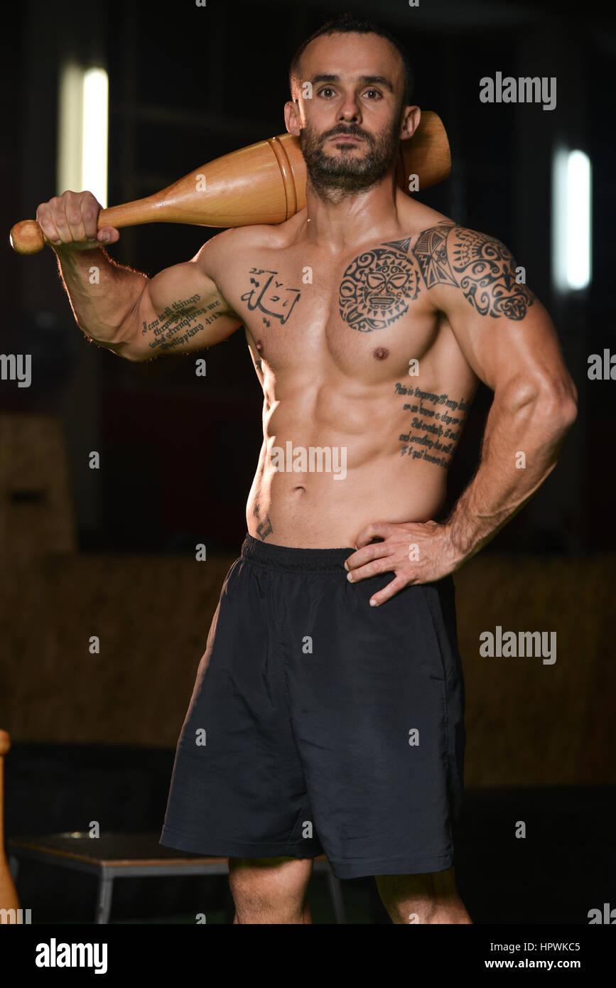 Muscle Man Pin