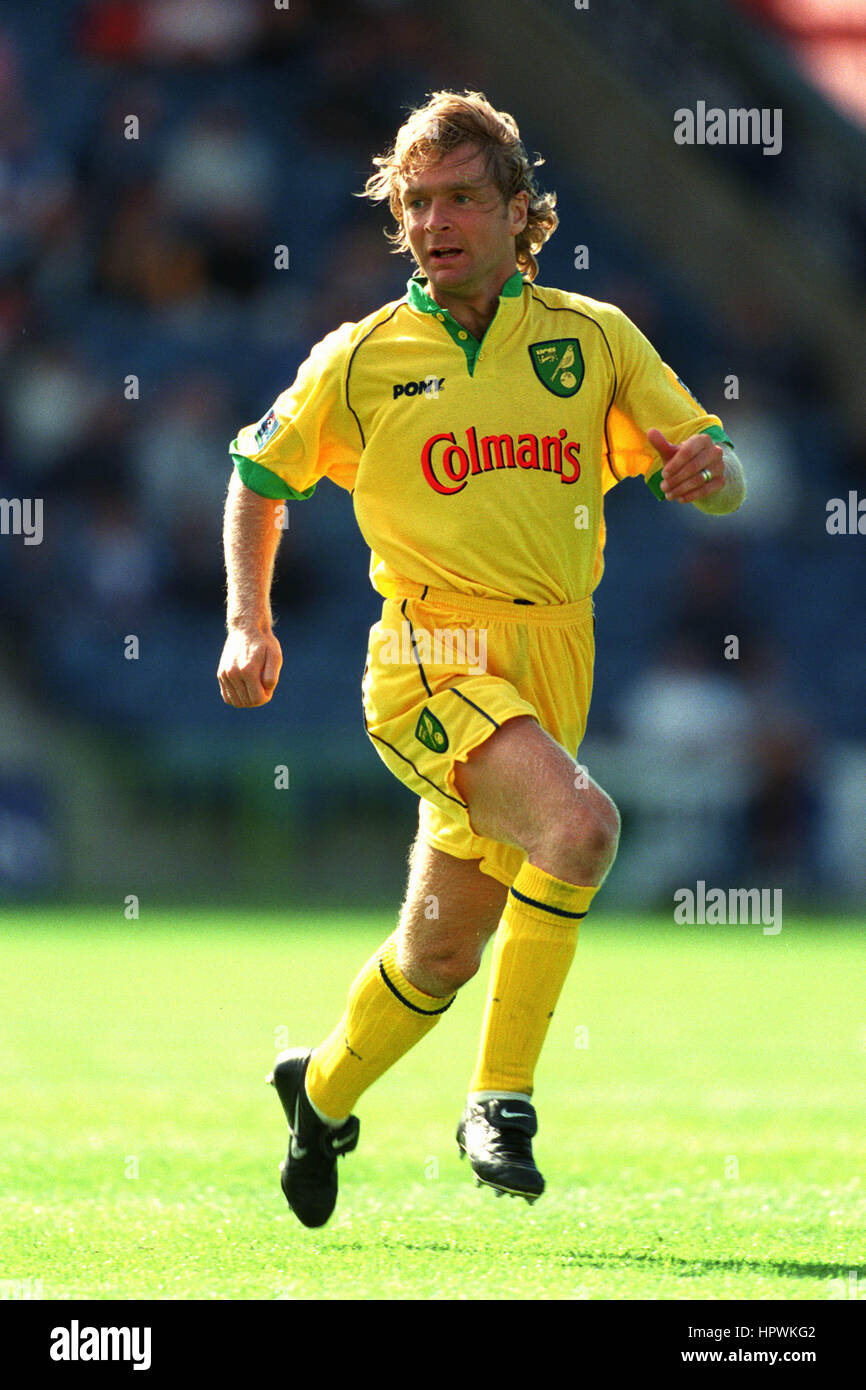 PETER GRANT NORWICH CITY FC 24 August 1998 - Stock Image