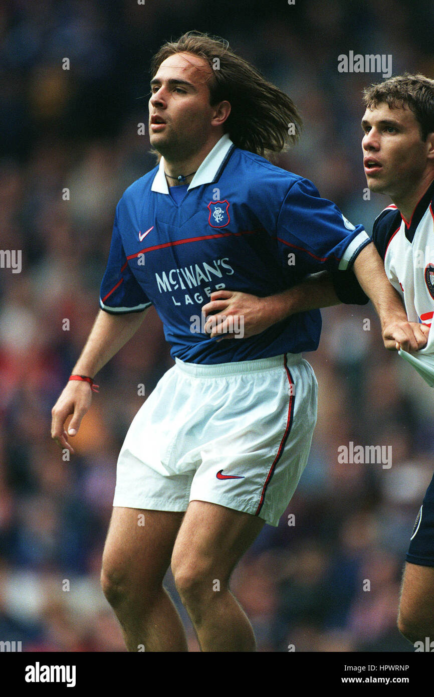 SEBASTIAN ROZENTAL GLASGOW RANGERS FC 06 October 1998 - Stock Image